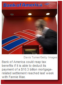 BofA tax benefit