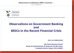Observation on Banking