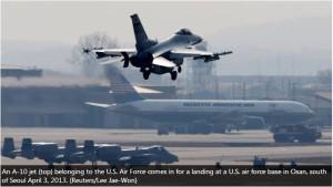US Jet at Seoul 4-3-13