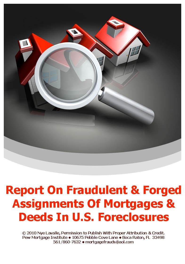 Your Mortgage Documents Might be Fake – Assignment of Mortgage Template