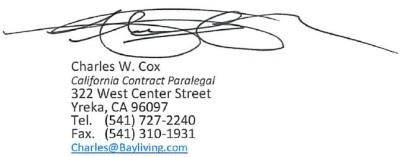 Charles Cox E-signature