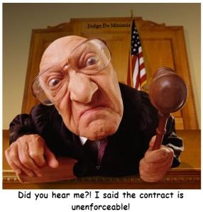 Judge UnEnforceable