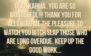 Karma thank you