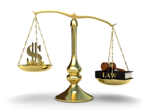 Lawyer Money Scales Justice