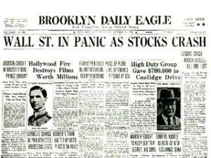 crash of 29 newspaper
