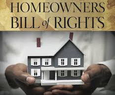 Homeowner bill-of-rights