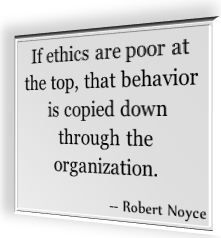 ethics at the top